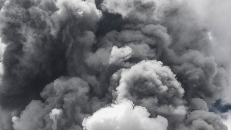 smoke from a volcano looks like ripples in a brain, smoke alarm, neuroscience, couples therapy