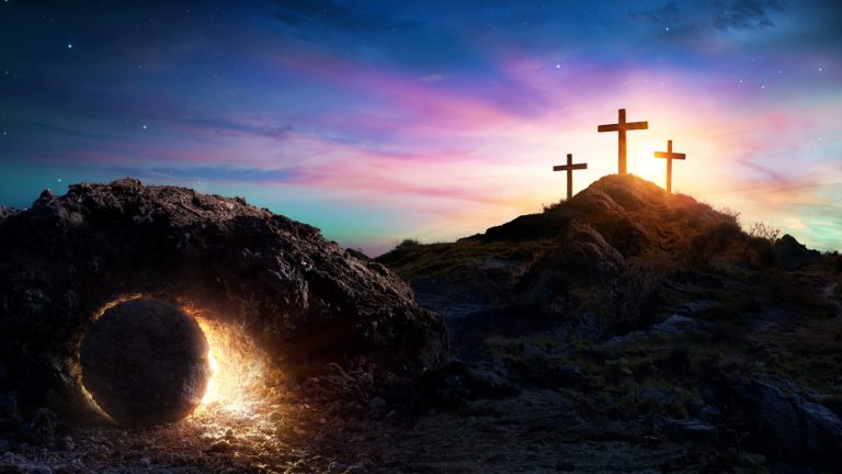 The empty tomb, the three crosses, and the resurrection of Jesus